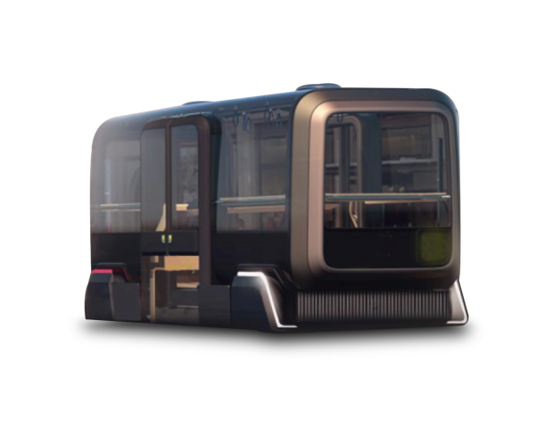 Airport Autonomous Shuttle Bus